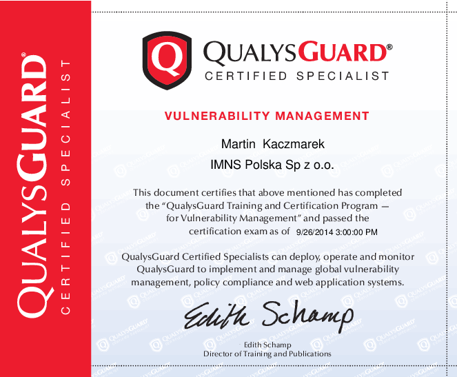 Qualys Guard Vulnerability Management