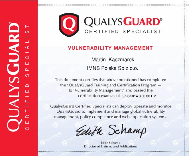 Qualys Guard Vulnerability Management